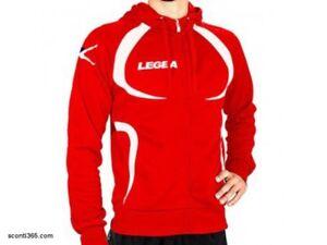 LEGEA-Giacca-tornado-tunisia-con-zip-intera-e-cappuccio-art-M1093-Rosso-Bianco