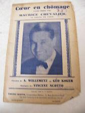 Partitur Coeur in arbeitslosigkeit Maurice Chevalier Kasino von Paris