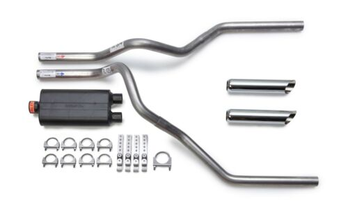 "07-15 Chevy Silverado Truck 2.5/"" Dual Exhaust Flowmaster 50 Delta Chrome Tips"