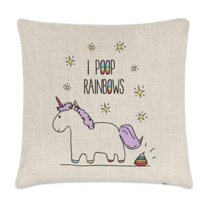 Lila-Unicorn-I-Poop-Rainbows-Linen-Cushion-Cover-Pillow-Funny