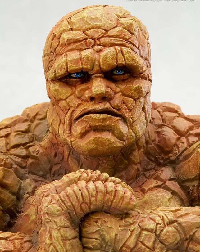 Marvel Comics Kotobukiya Japón fantástica figura 4 la cosa Busto Estatua
