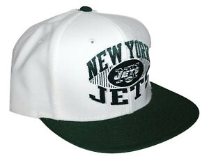 550f97021d7 NY New York Jets Reebok NFL Football Flat Brim Snapback Cap Hat ...