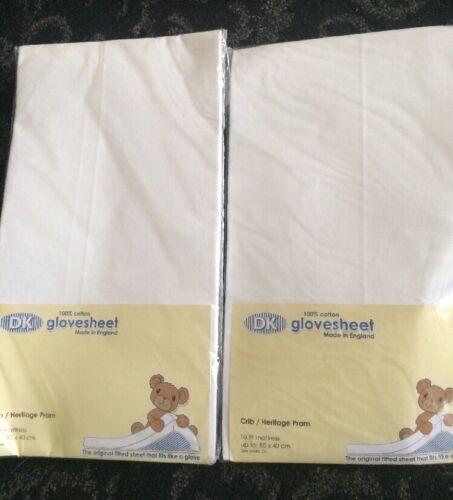 DK GloveSheet 100/% Cotton Fitted Sheet 85 X 40