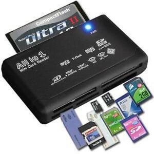 ALL IN 1 MULTI MEMORY CARD USB READER SD SDHC MINI MICRO M2 MMC XD CF 419961631930