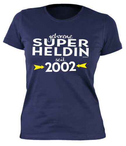T-Shirt 17.Geburtstag für Damen Mädchen Geburtstag Jahrgang 2002-17 17 Geb