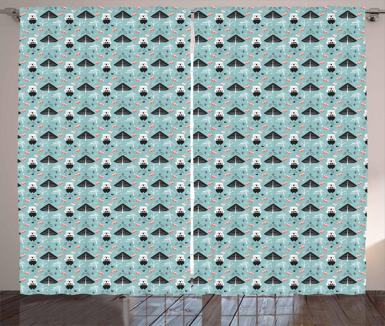 Polar Bear Curtains 2 Panel Set Decoration 5 5 5 Größes Window Drapes Ambesonne a22c09