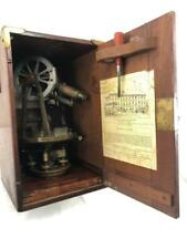 Circa 1910 Antique Buff Amp Buff Mfg Co Brass Surveyors Scope Level Transit With