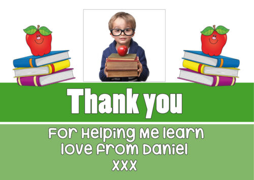 with envelopes Pack of 10 Personalised Thank You Teacher Cards