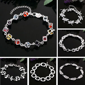 Image Is Loading 7 Styles Korean Woman S Fashion Crystal Silver