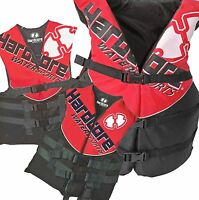 Hardcore Red Life Jackets Vests For Adults Youth Toddler, Kids. S, M, L, Xl, 2xl