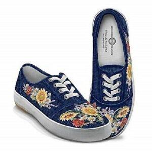 NIB Bradford Exchange Women/'s Wildlife Art Lace Up Sneakers Size 5.5