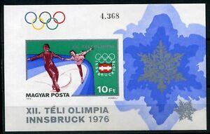 Ungarn-MiNr-Block-116-B-postfrisch-MNH-Olympiade-1976-Innsbruck-Oly805