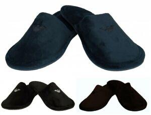 SG-Ciabatte-pantofole-da-casa-uomo-in-velluto-homewear-EMPORIO-ARMANI-articolo-X