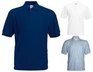 FRUIT-OF-THE-LOOM-Mens-Boys-Polo-Collar-Cotton-T-Shirt-Summer-Golf-Shirt-top