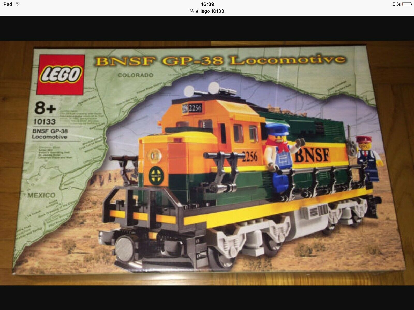 LEGO 10133 - Burlington Northern Santa Fe (BNSF) GP-38 Locomotive