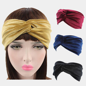 6d1d6568ad0 Image is loading Lady-Stylish-Elastic-Velvet-Turban-Twist-Crossed-Headband-