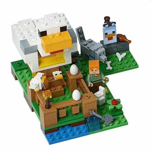 Lego 21140 Minecraft The Chicken Coop 198 pieces neuf sans boîte Compatable