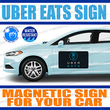 12x18 Car Magnets UBER eats Magnetic Auto Car Truck Signs - QTY-2 (a pair)  -mgn