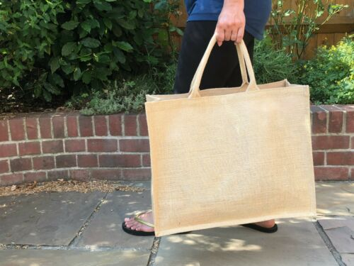 Large jumbo jute bag natural black cheapest wholesale UK pack 1 3 5 10 lot