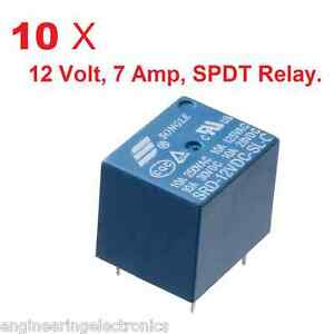 10 x 12 Volts 7 Amps PCB Mount SPDT Relay Sugar Cube Relay eBay