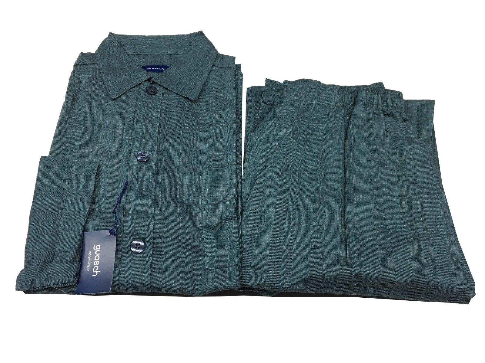 Guasch Man Pajamas Flannel Oil Herringbone 100% Cotton