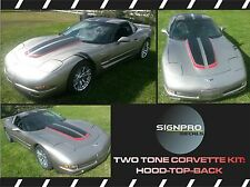 Corvette Chevrolet C5 Racing Stripes Rally Stripes Decal Kit 1997-04 2 tone kit