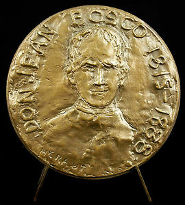 Médaille Saint patron des prestidigitateurs Don Giovanni Melchior Bosco medal - France - Métal: Bronze - France