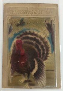 PFB Vintage Postcard Thanksgiving Wild Turkeys