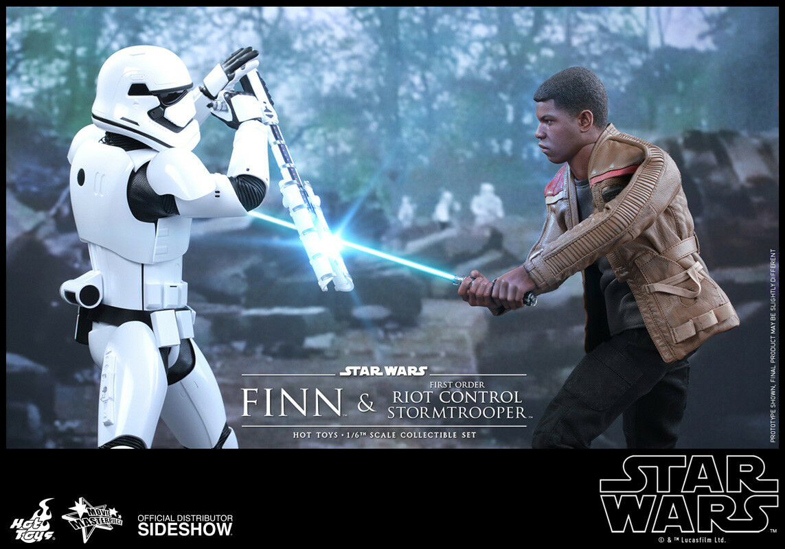 SideShow 1/6th scale Star Wars Finn and First Order Riot Control Stormtrooper