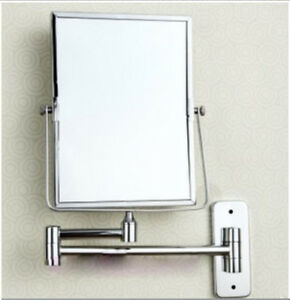 modern square wall mounted chrome bathroom double side magnifying makeup mirror ebay. Black Bedroom Furniture Sets. Home Design Ideas