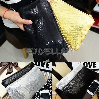 Women Lady Fashion Clutch Dazzling Sequins Glitter Sparkling Handbag Evening Bag