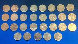 2011-50p-Olympic-Coin-Collection-Full-List-Fifty-Pence-See-listing-You-Choose
