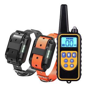 2 Collar Adiestramiento Perros Descarga Vibracion y Sonido Anti Ladridos Mando