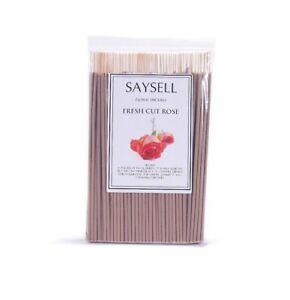Fresh-Cut-Rose-Floral-8-034-Incense-Sticks-Agarbatti-Long-Burning-x-100-by-Saysell