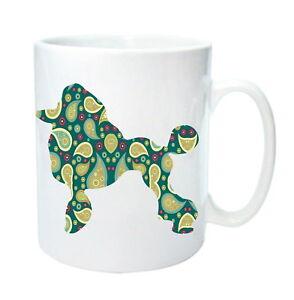 Dog-Mug-Poodle-Paisley-pattern-Mug-Gift-Birthday-Gift-Mug-Xmas-Gift