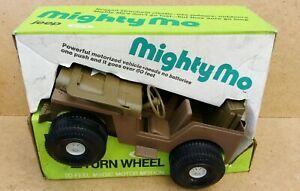 Vintage 1973 idéal jouets puissant jeep armée motorisée Mo dans la boîte d'origine
