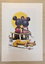 The Art of Disney Embossed Puppy Love Mickey & Minnie by Charles Boyer Print 5x7