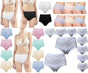 Women/'s Underwear Cotton Rich Mama Briefs Pants UK Size 16-18