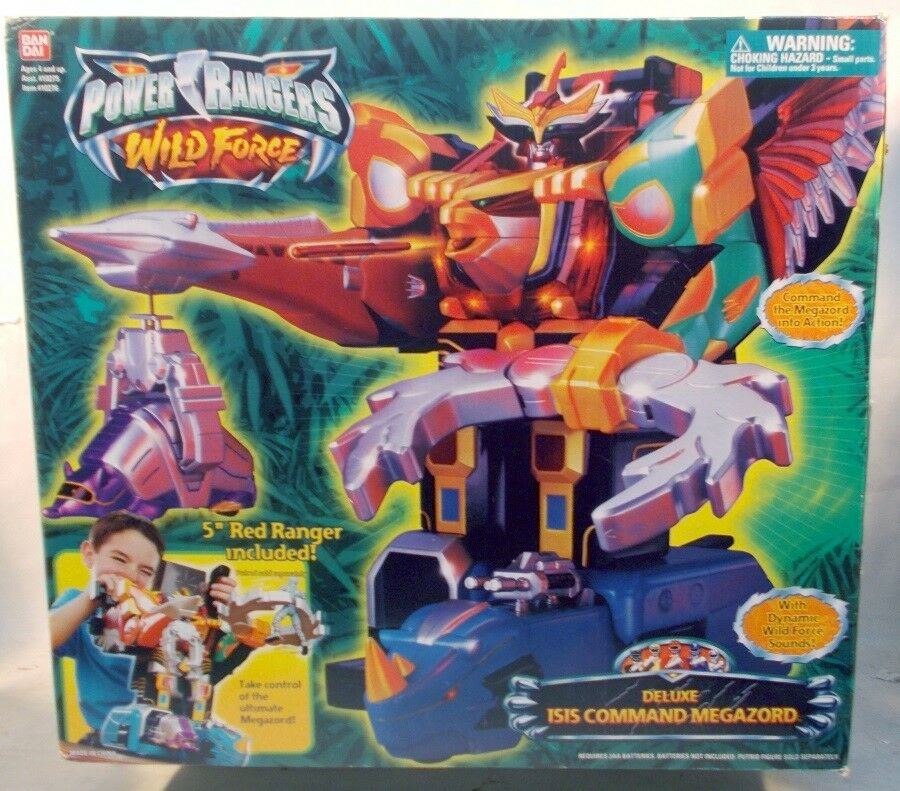 Power Rangers Wild Force Deluxe Isis Command Megazord Megazord Megazord Bonus rosso Ranger MISB 8a661c
