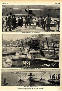 Ein-Wasserflugzeug-der-k-u-k-Marine-vor-dem-Start-beim-Aufstige-v-1916-WW1
