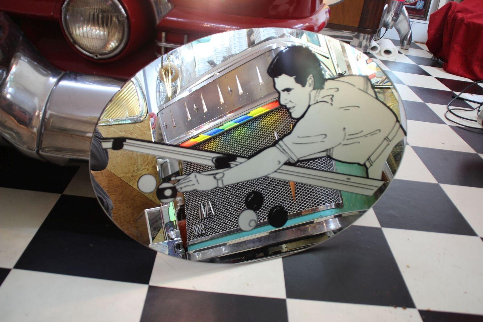 Spiegel Pool Billard 70er Jahre 70 x 45cm Top Deco