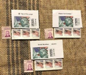 US POSTAGE STAMPS $8.40 x 3 FLAT RATE PADDED PRIORITY ENVELOPE USPS 25.20 FV