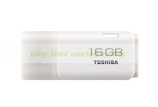 Toshiba White USB 16GB Hayabusa Flash Pen Drive Nueva garantía de por vida ct ES