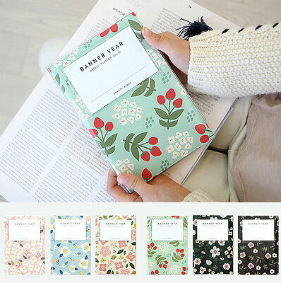 Breezy Windy Pattern Clear Cover Undated Weekly Planner Organizer M / S vol.01