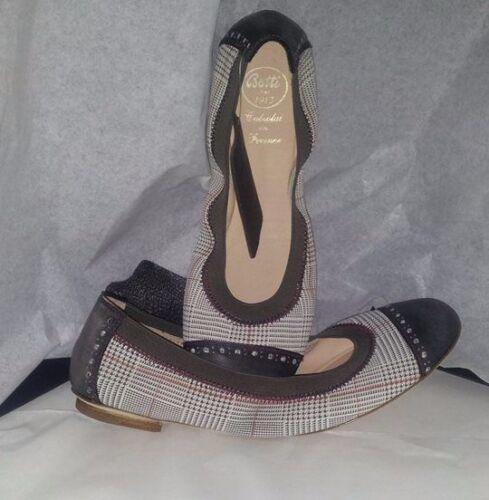 Made Ballerine Schuhe Scarpe Woman Pantofi 37 Donna Tessuto Shoes Ita Scozzese qg1pz70