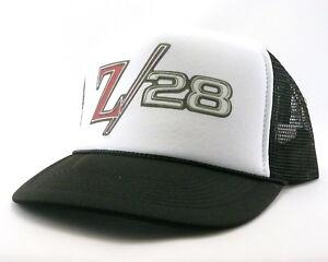 9e0a2f77 Chevrolet Camaro Z28 Trucker Hat mesh hat snap back hat black new ...