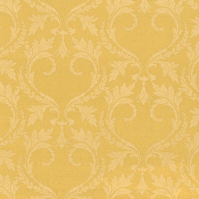 SOFT COTTON BEDDING COVERING DUVET COVER FABRIC ANTIQUE CHIC DAMASK GOLD 44'W