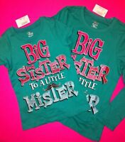 big Sister To A Little Mister Graphic Shirt 4 4t 5-6 7-8 10-12 14 Brother