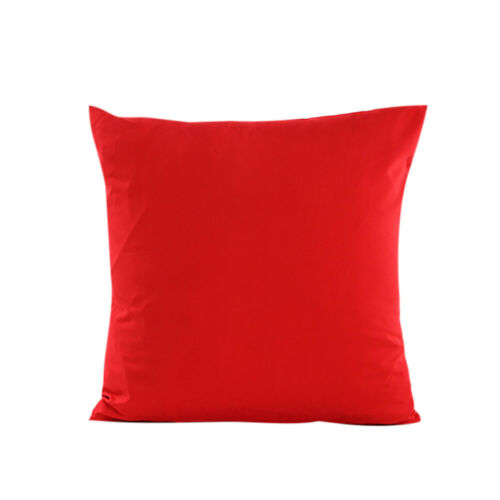 Soft Home Plain Throw Cushion Cover Rome Decor Sofa Waist Solid Pillow Case Gift