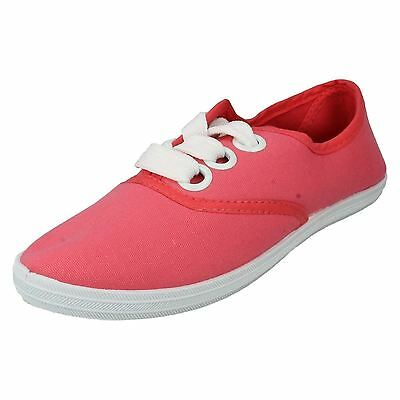 Mujer f8813 Lona Zapatos Con Cordones de Ajustadas 5 Colores Disponibles